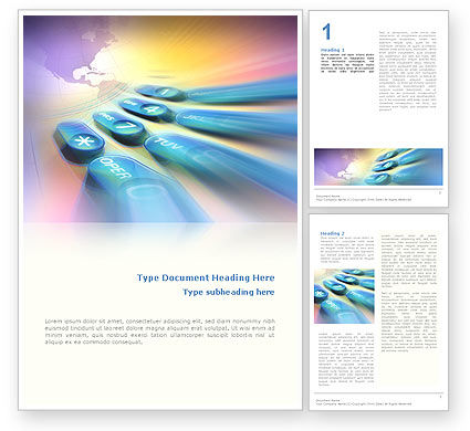 International Communication Word Template, 02372, Telecommunication — PoweredTemplate.com
