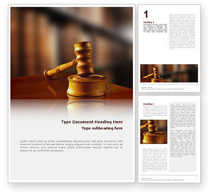Legal: Juridical Word Template #02373