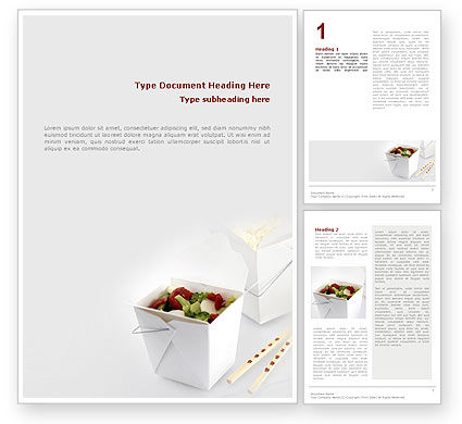 Chinese Food Word Template, 02378, Food & Beverage — PoweredTemplate.com