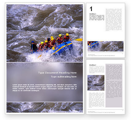 Sports: Rafting Word Template #02380