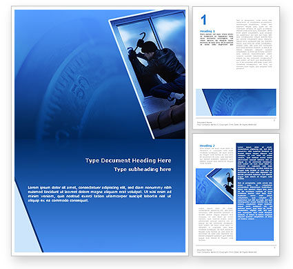 Robbery Word Template, 02384, Legal — PoweredTemplate.com