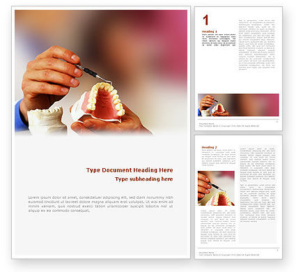 Denture Word Template, 02385, Medical — PoweredTemplate.com