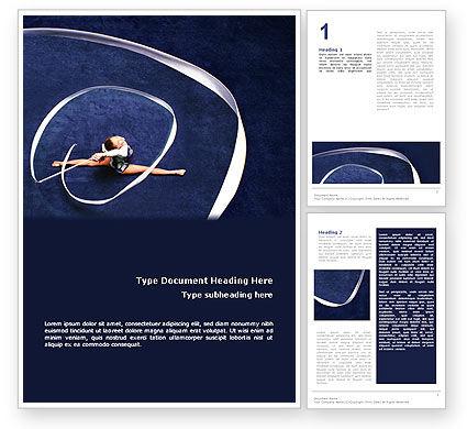 Rhythmic Gymnastics Word Template, 02388, Sports — PoweredTemplate.com
