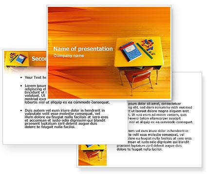 powerpoint backgrounds school. School Desk PowerPoint