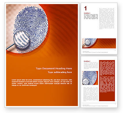 Technology, Science & Computers: Finger Print Word Template #02399