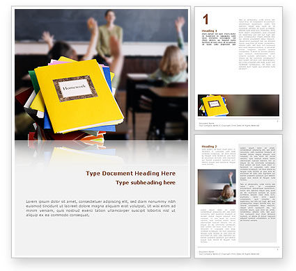 Education & Training: School Teaching Word Template #02401