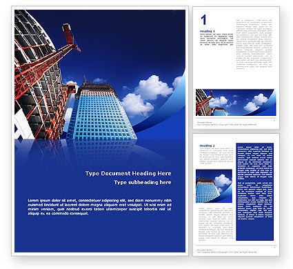 Construction: Building Company Word Template #02402