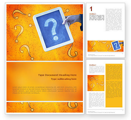 Question Mark In Quiz Word Template, 02404, Business Concepts — PoweredTemplate.com