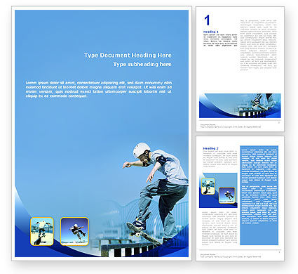 Sports: Skateboarding Word Template #02405