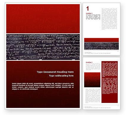 Algebraic Formulas Word Template, 02406, Education & Training — PoweredTemplate.com