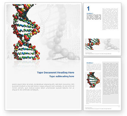 Medical: Dna Op Een Grijs Word Template #02407