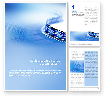 Art & Entertainment: Film Word Template #02408