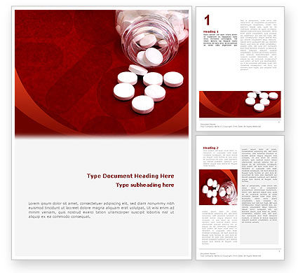 Medical: Pills From The Bottle Word Template #02414