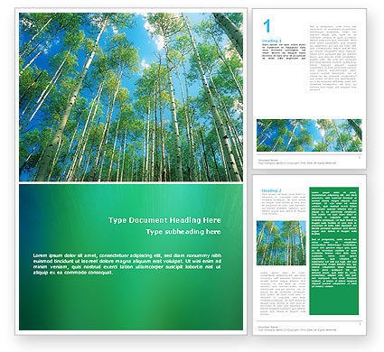 Nature & Environment: Forest Word Template #02415