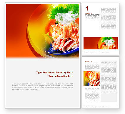 Exotic Food Restaurant Menu Word Template, 02431, Food & Beverage — PoweredTemplate.com