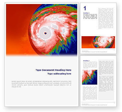 Nature & Environment: Cyclone Word Template #02433