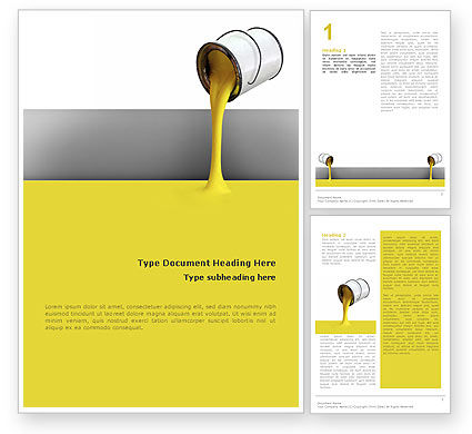 Yellow Paint Word Template, 02440, Utilities/Industrial — PoweredTemplate.com