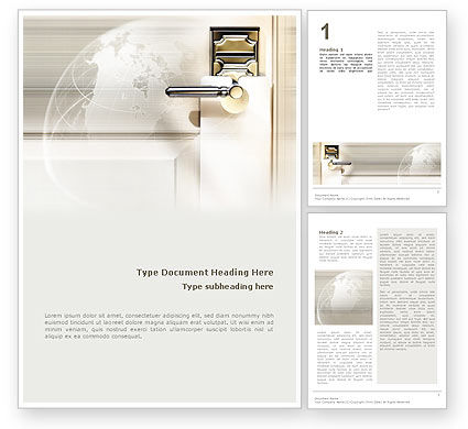 Global: World Wide Hotel Network Word Template #02442