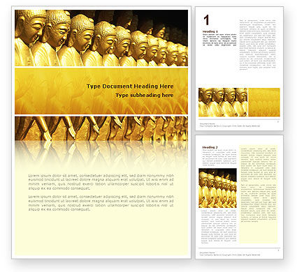 Art & Entertainment: Statues of Buddha Word Template #02446