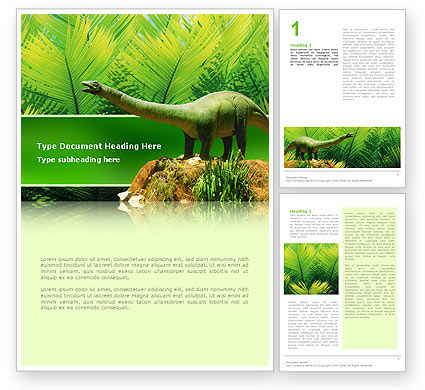 Agriculture and Animals: Dinosaur Word Template #02449