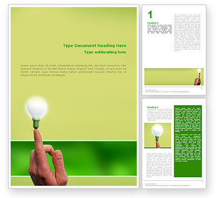 Business Concepts: Lamp on Finger Word Template #02453