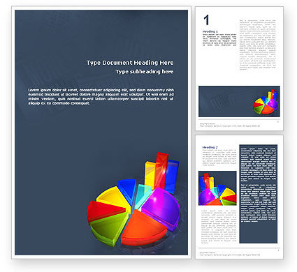 Pie Chart Word Template, 02458, Financial/Accounting — PoweredTemplate.com