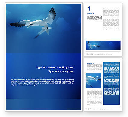 Albatross Word Template, 02459, Nature & Environment — PoweredTemplate.com
