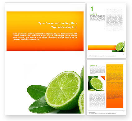 Lime Word Template, 02460, Food & Beverage — PoweredTemplate.com