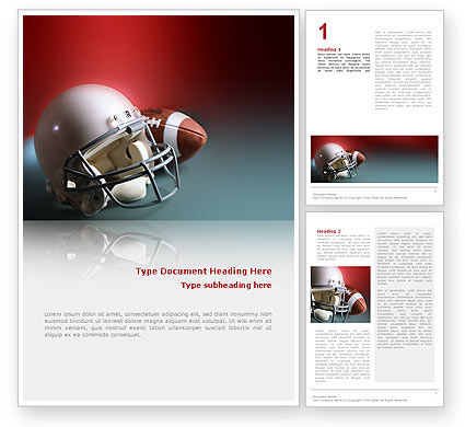 Sports: American Football Carolina Panthers Word Template #02461