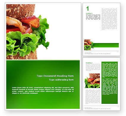 Burger Word Template, 02463, Food & Beverage — PoweredTemplate.com