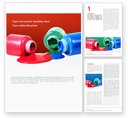 Paint Cans Word Template, 02465, Utilities/Industrial — PoweredTemplate.com