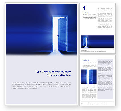 Open Door Word Template, 02468, Business Concepts — PoweredTemplate.com