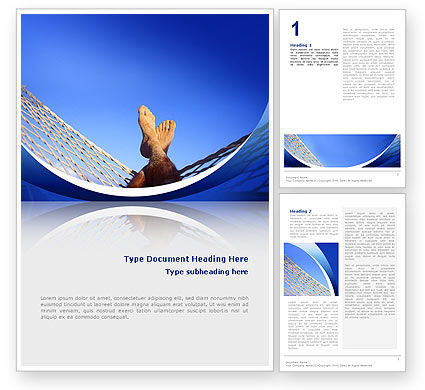 Meditative Word Template, 02472, Business Concepts — PoweredTemplate.com