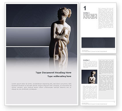 Art & Entertainment: Roman Sculpture Word Template #02473
