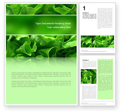 Lettuce Word Template, 02484, Food & Beverage — PoweredTemplate.com