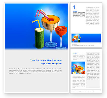 Food & Beverage: Vitaminecocktail Word Template #02487