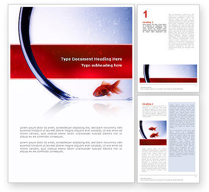 Nature & Environment: Red Fish Word Template #02488