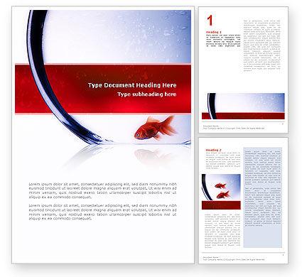 Nature & Environment: Modèle Word de poisson rouge #02488