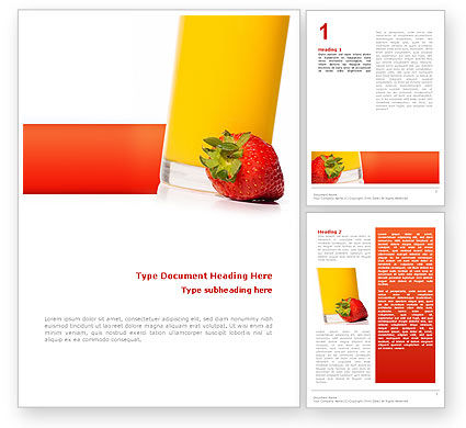 Food & Beverage: Juice Word Template #02489