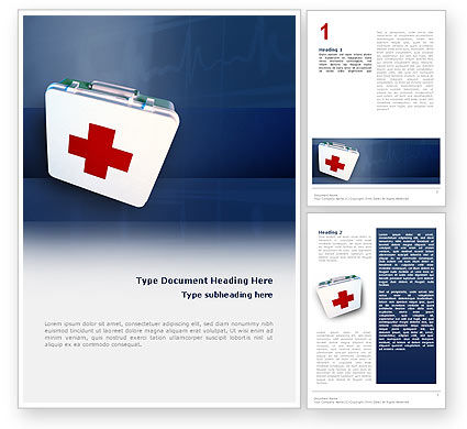 Medical: First Aid Word Template #02490