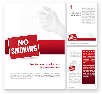 No Smoking Word Template, 02493, Medical — PoweredTemplate.com