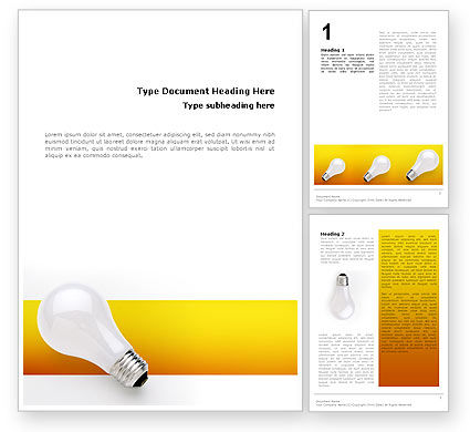 Lamp Word Template, 02494, Consulting — PoweredTemplate.com