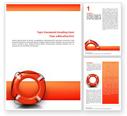 Saving Buoy Word Template, 02501, Business Concepts — PoweredTemplate.com