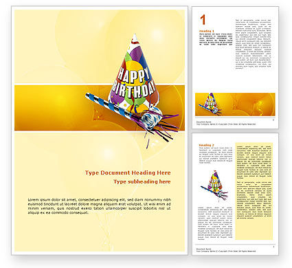 Holiday/Special Occasion: Birthday Word Template #02513