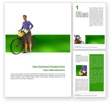Wellness Word Template, 02522, People — PoweredTemplate.com