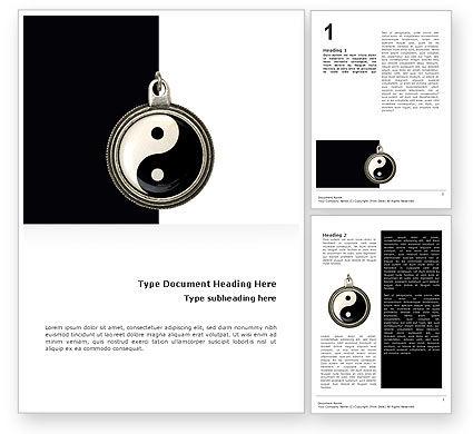 Yin Yang Word Template, 02525, Religious/Spiritual — PoweredTemplate.com