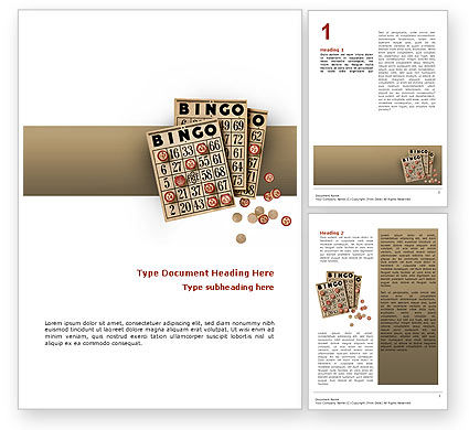 Art & Entertainment: Bingo Word Template #02531