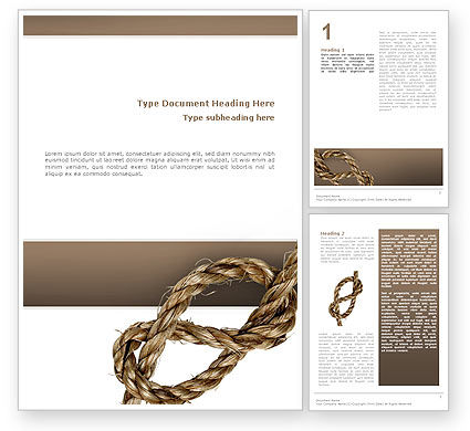 Rope Word Template, 02532, Business Concepts — PoweredTemplate.com