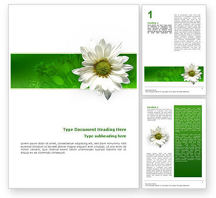 Nature & Environment: Ox-eye Daisy Word Template #02533
