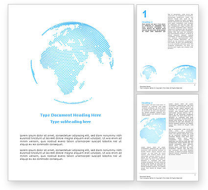 Global: Clusters Of World Word Template #02549